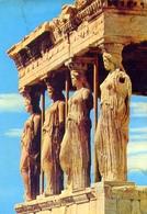 Athen - Die Kariatiden - Formato Grande Viaggiata Mancante Di Affrancatura – E 9 - Grecia