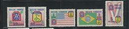 Brasil 1946 Scott 635-639 MNH Full Set Flags Cobra - Brazil