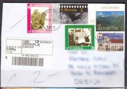 Slovenia Modern Cover Travelled To Serbia - Slovénie