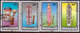 PAPUA NEW GUINEA 1984 SG #483-86 Compl.set Used Ceremonial Shields - Papua New Guinea