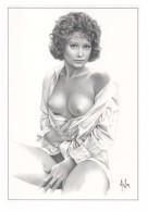 Aslan  Erotic Risque Postcard - Sexy Nude Nº 64 Elisa, Limited Edition - Size: 15x10 Cm. Aprox. - Aslan