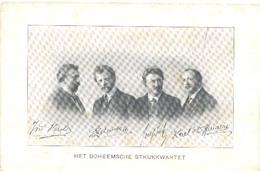 Het Boheemsche Strijkkwartet  (2 X Scan) (Amsterdam, Concert Directie) Het Raster Is Veroorzaakt Door Het Scannen. - Artiesten