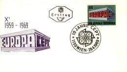 1969 - AUSTRIA - EUROPA - BUSTA FDC.+5 - FDC