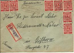1946 Einschreiben Von Alferde über Elze  (Eldagsen) Nach Gifhorn - Zona AAS