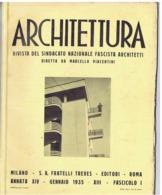 ARCHITETTURA / FASCISMO - MASSIMO PIACENTINI - 1935 - ROMA / RICCIONE / BARI / VENEZIA / PIACENZA / MOGADISCIO - Kunst, Design, Decoratie