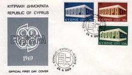 1969 - CIPRO - EUROPA - BUSTA FDC.+4 - Cipro (Repubblica)