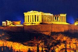 Athenes - L'acropole Illuminee - 373 - Formato Grande Non Viaggiata – E 9 - Grecia