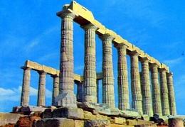 Cap Sunion - Temple De Poseidon - Formato Grande Viaggiata – E 9 - Grecia