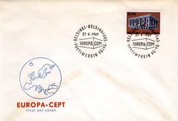 1969 - FINLANDIA - EUROPA - BUSTA FDC.+4 - Storia Postale