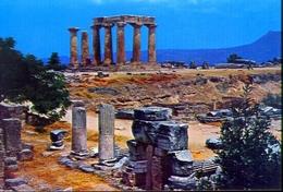 Corinto Antico - Il Tempio Di Apollo - 207 - Formato Grande Non Viaggiata – E 9 - Grecia