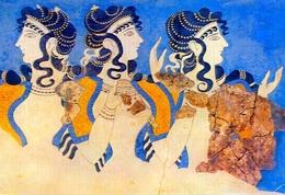 Crete Heraklee - Les Dames En Bleu Frfesque Du Palais De Cnossos - Formato Grande Viaggiata – E 9 - Grecia