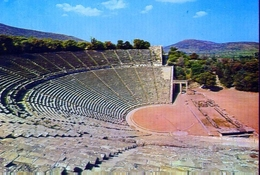 Epidauro - Il Teatro - Formato Grande Non Viaggiata – E 9 - Grecia