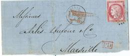 Lettre Type Ceres N° 57 - Marcophilie (Lettres)