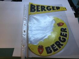 Visière  Publicitaire Papier BERGER + Fanion - Publicités