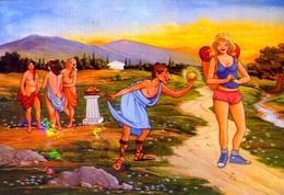 Griechische Mythologie - Die Drei Haritaien - 7 - Formato Grande Non Viaggiata – E 9 - Grecia