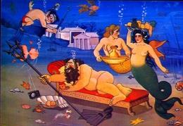 Griechische Mythologie - Posidonas - Der Gott Des Meeres - 4 - Formato Grande Non Viaggiata – E 9 - Grecia