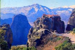 Meteore - Monastero Di Varlaan - Formato Grande Viaggiata Mancante Di Affrancatura – E 9 - Grecia