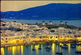 Miconos - Tramonto Pittoresco - Formato Grande Viaggiata Mancante Di Affrancatura – E 9 - Grecia