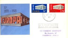 1969 - IRLANDA - EUROPA - BUSTA FDC.+4 - FDC