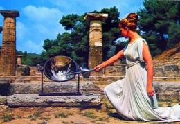 Olympia - L'accensione Della Fiamma Olympique - Formato Grande Non Viaggiata – E 9 - Grecia