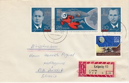 DDR 1965 - MiNr: 1138-1140+1168 Dreierstreifen Rekobeleg - Briefe U. Dokumente