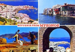 Souvenir From Mykonos - Formato Grande Non Viaggiata – E 9 - Grecia