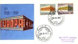 1969 - LUSSEMBURGO - EUROPA - BUSTA FDC.+2 - FDC