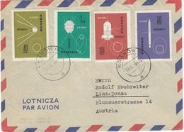 POLEN 1963 - MiNr: 1438-1439+1441-1442 Luftpostbeleg - Europa