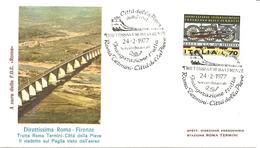 ITALIA - 1977 CITTA' PIEVE (PG) Direttissima Roma-Firenze Inauguraz. Tratta Roma-Città Pieve Su Busta Spec. Roma - 3098 - Trains