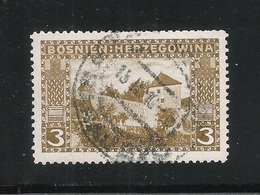 BOSNIA ERZEGOVINA - 1906 - VALORE USATO DA 3 H. CASTELLO DI JAJCE. - IN BUONE CONDIZIONI. - Bosnia Erzegovina