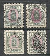 FINLAND FINNLAND 1890 Michel 32 Small Lot Of Color Shades Perforaton Types O - Gebraucht