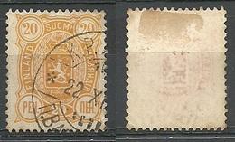 FINLAND FINNLAND 1889 Michel 30 Set Off Abklatsch O ERROR Abart Variety - Gebraucht