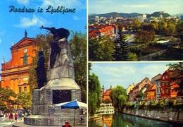 Pozdrav Iz Ljubljane - Slovenija - 63 - Formato Grande Viaggiata Mancante Di Affrancatura – E 9 - Jugoslavia