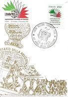 ITALIA - 1985 SETTIMO TORINESE (TO) 40° Liberazione (bandiera, Torre Del Castello) + Etichetta Italia'85 Su Cart. Spec. - Seconda Guerra Mondiale