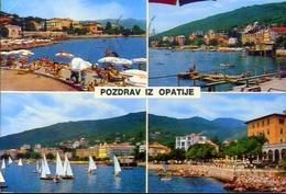 Pozdrav Iz Opatije - Formato Grande Viaggiata Mancante Di Affrancatura – E 9 - Jugoslavia