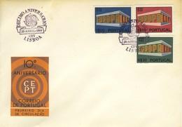1969 - PORTOGALLO - EUROPA - BUSTA FDC.+4 - FDC