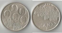 BELGIQUE 500 FRANCS 1980  ARGENT - 1951-1993: Baudouin I