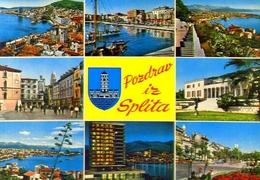 Pozdrav Iz Splita - 1021-12 - Formato Grande Viaggiata Mancante Di Affrancatura – E 9 - Jugoslavia