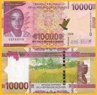 Guinea 10000 (10,000) Francs P-new 2108 / 2019 UNC Banknote - Guinea
