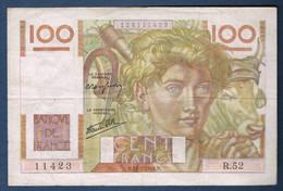 100 FRANCS JEUNE PAYSAN Fayette N° 28 Du 31.5.1946.D N° 11423 R.52 état SUP - 1871-1952 Anciens Francs Circulés Au XXème