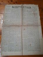 01.09.1870 - RISORGIMENTO - FIRENZE - GIORNALE - GAZZETTA D'ITALIA - PUBBLICITA' - Ante 1900