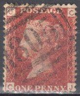 Great Britain 1858-79 - Queen Victoria, 1d Red - Mi.16 Plate 164 - Used - 1840-1901 (Victoria)