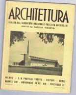 ARCHITETTURA / FASCISMO - MASSIMO PIACENTINI - 1935 - STADIO LUCCA / TRIESTE / STAZIONE VENEZIA / SABAUDIA / TORINO - Art, Design, Decoration