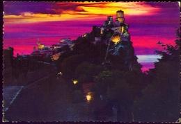Repubblica Di San Marino - La Prima Torre - Panorama Notturno - Formato Grande Viaggiata – E 9 - San Marino