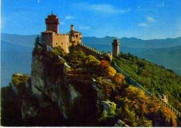 Repubblica Di San Marino - Seconda Torre E Panorama - Formato Grande Viaggiata Mancante Di Affrancatura – E 9 - San Marino