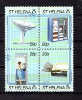 SAINT  HELENA    1990    Modern  Telecom  Links    Block  Of  4    MNH - Saint Helena Island