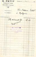 B01 - Pharmacie PETIT - Gouzon - Creuse -1932 - Chemist's (drugstore) & Perfumery