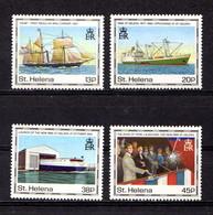 SAINT  HELENA    1990    Maiden  Voyage  Of  St  Helena  II    Set  Of   4    MNH - Saint Helena Island