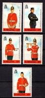 SAINT  HELENA    1991    Military  Uniforms    Set  Of   5    MNH - Saint Helena Island