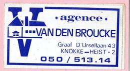 Sticker - AGENCE - VAN DEN BROUCKE - Graaf D'Ursellaan 43 KNOKKE HEIST - Stickers